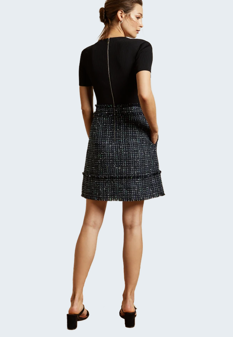 Ted Baker Fearnic Boucle Short Sleeve Dress