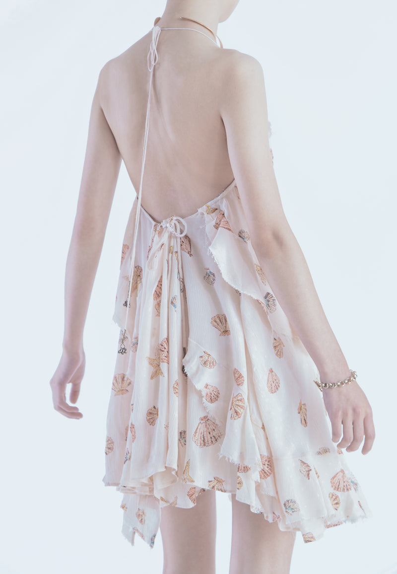 Free People Sunlit Printed Mini in Blush
