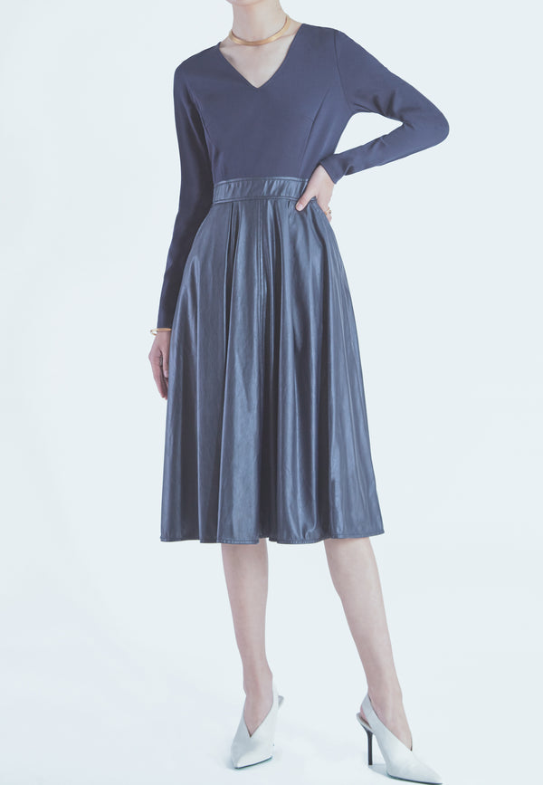 Marella Oriana Dress in Midnight Blue