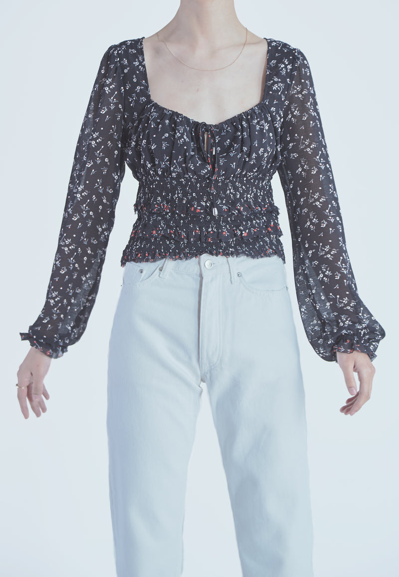 Free People Printed Lolita Top