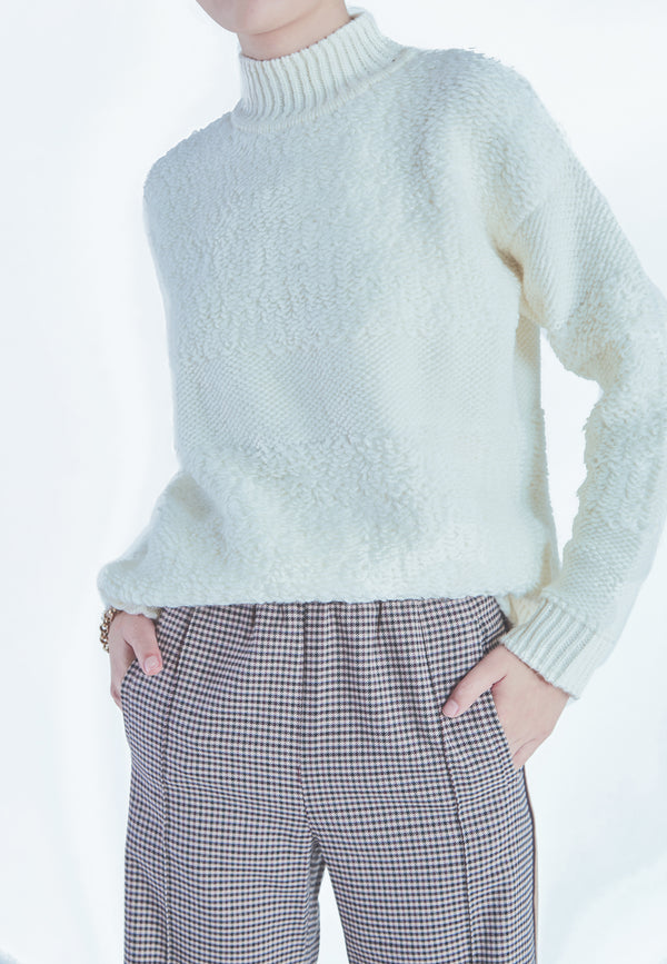 Suncoo Payton Sweater in Ivory