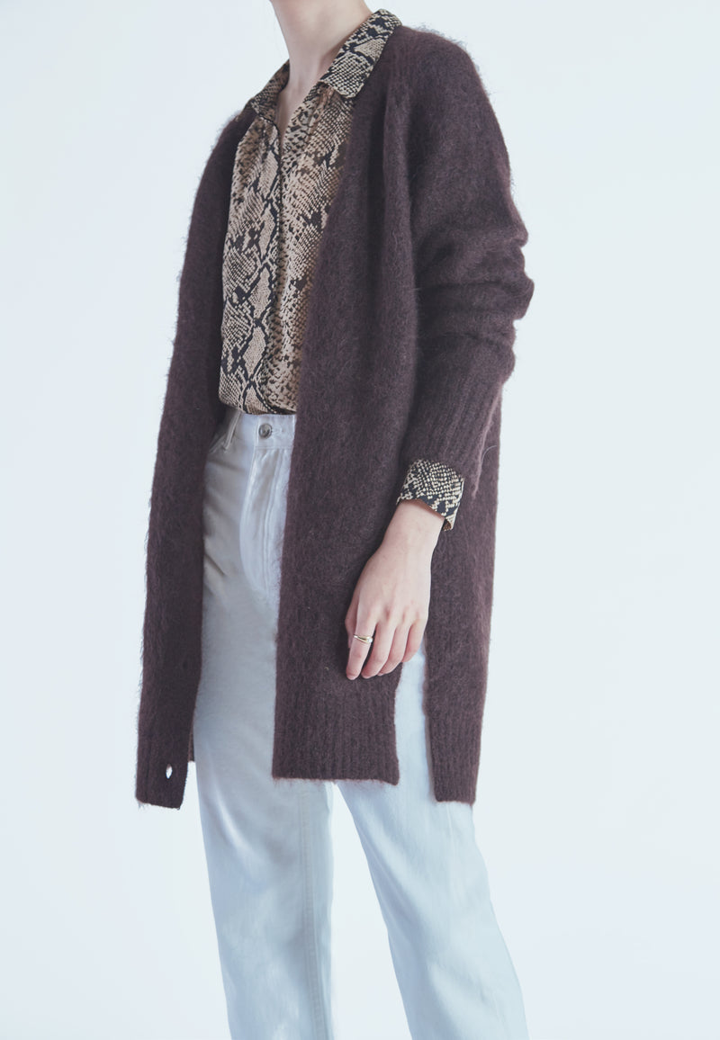 Tiger of Sweden PREZA Cardigan in Coffee