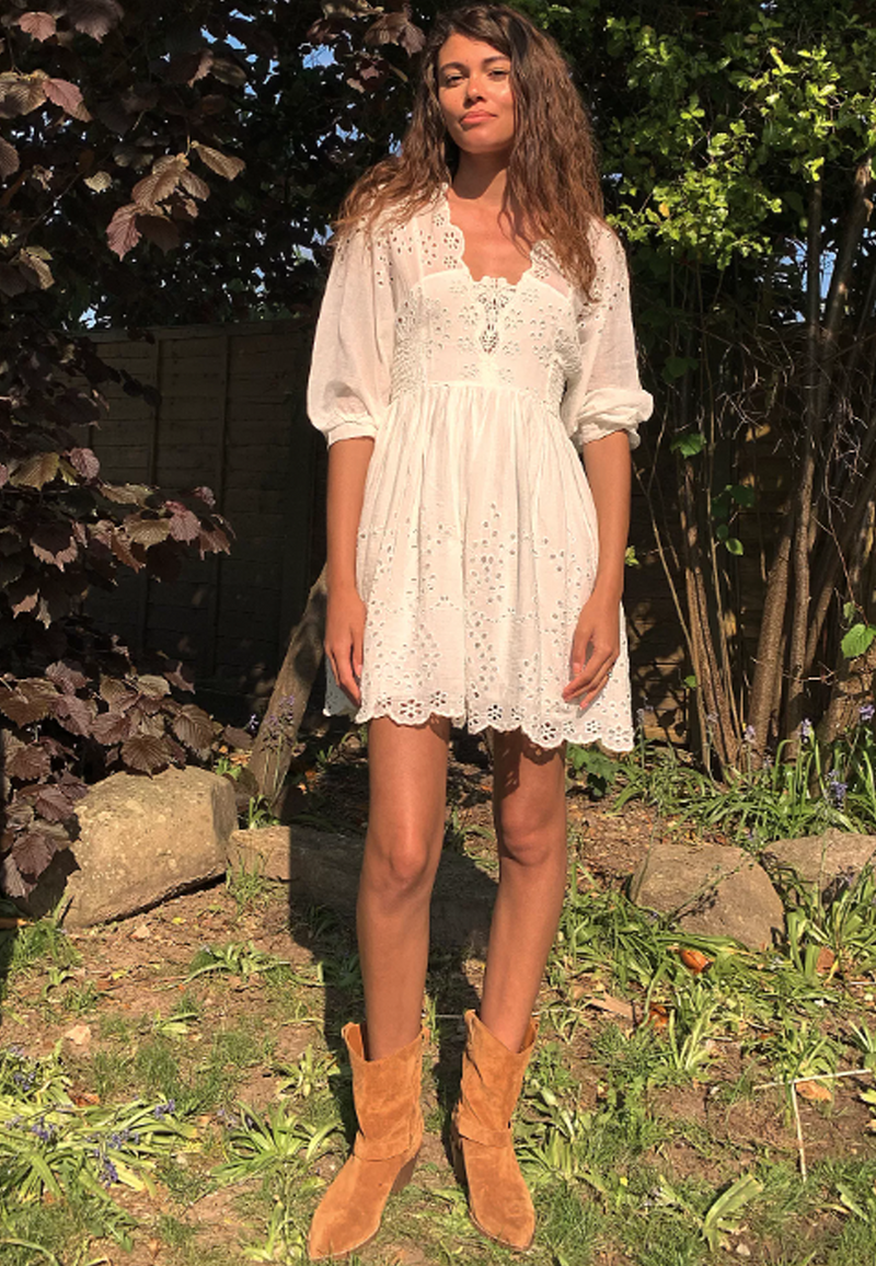 Free People Lottie Dress in White