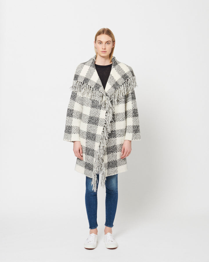 Line Salt & Pepper Check Clarice Sweater
