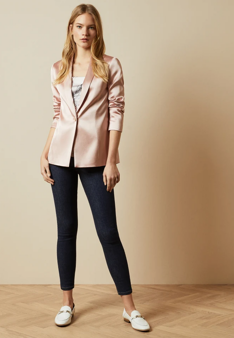 Ted Baker Jelissa Satin Jacket in Pale Pink
