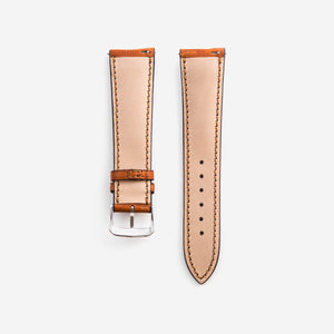 Alligatorleder Uhrenarmband in Cognac