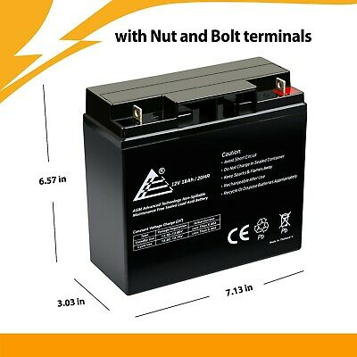 Premium Electric Scooter Battery 12V 18Ah SLA (AGM) Lead Acid Battery