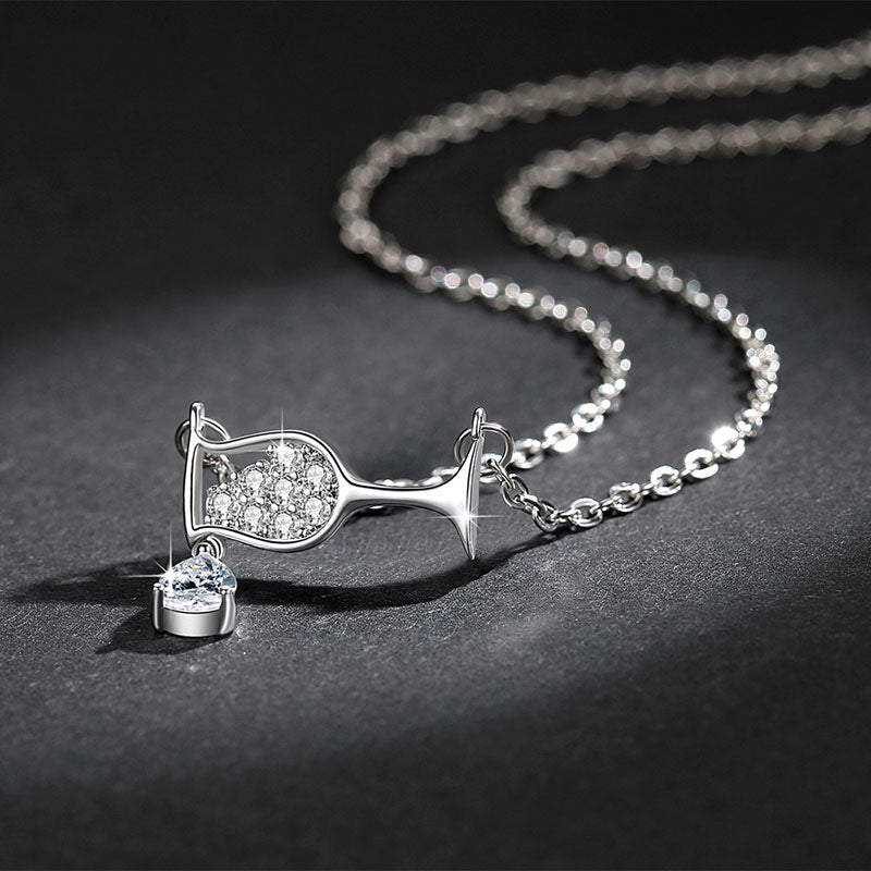 Crystal Wine Glass Necklace