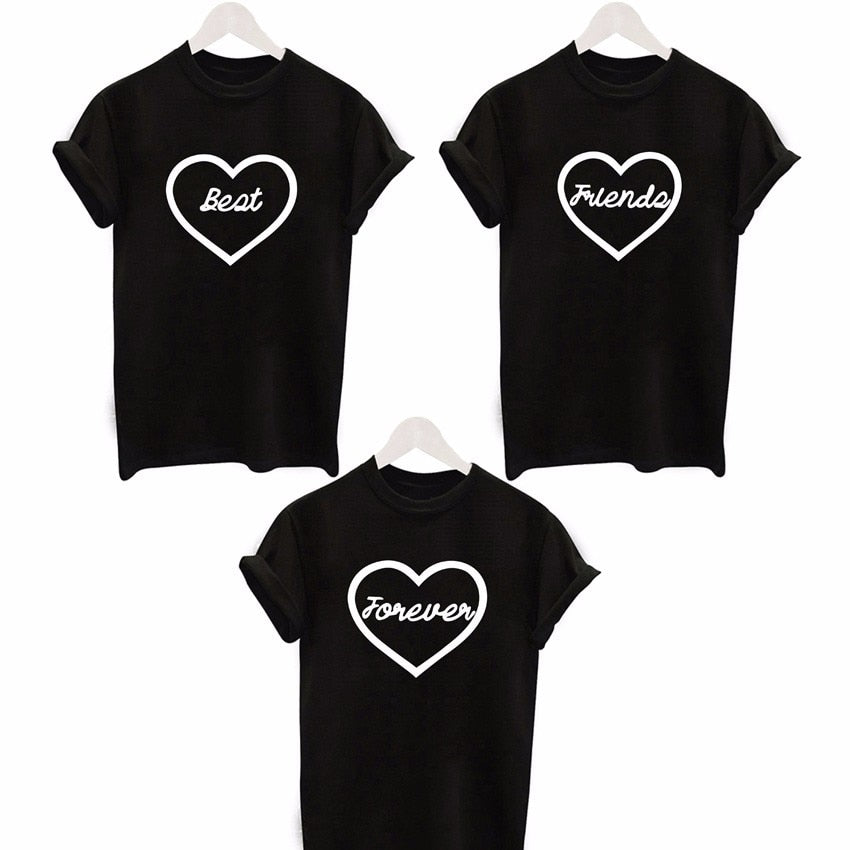 Best Friends Forever Trifecta Bestie Tee - Caring Collections