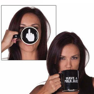 Hidden Middle Finger Coffee Mug - Caring Collections