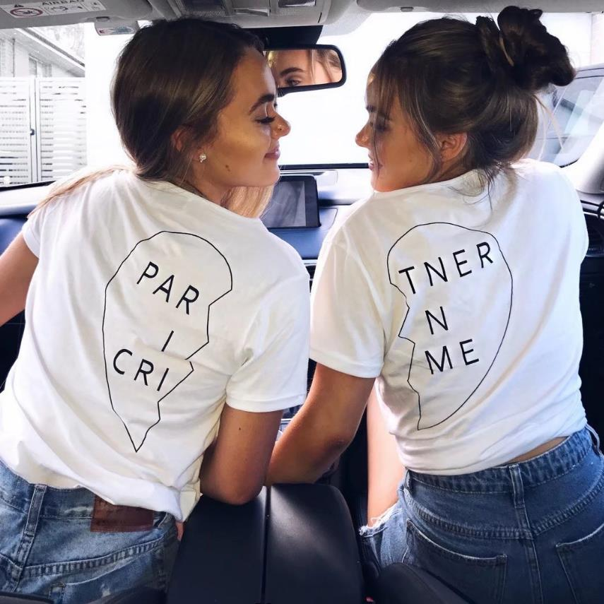 Partner In Crime Bestie Tee - Caring Collections