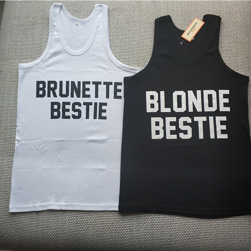 Blonde & Brunette Bestie Tank Top - Caring Collections