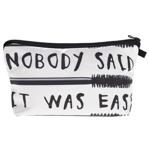 Nobody Said It Was Easy Makeup Bag - Caring Collections