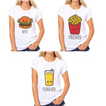 BFF Hamburger & Fries Bestie Tee - Caring Collections