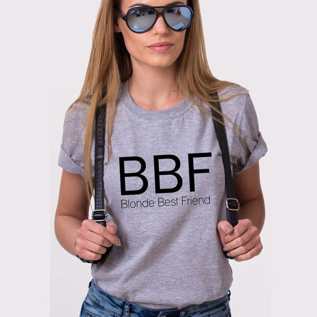 Blonde & Brunette Best Friend Tee - Caring Collections