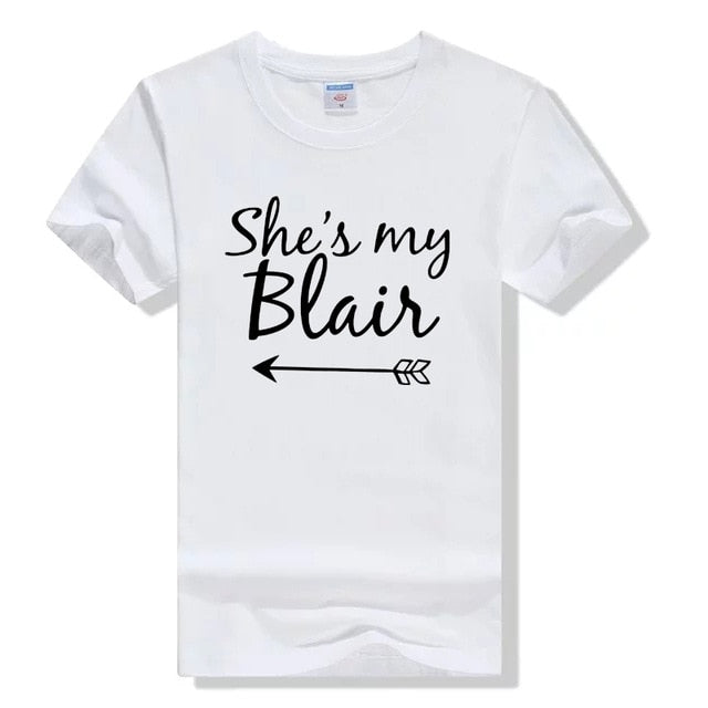 She's My Serena & Blair Bestie Tee - Caring Collections