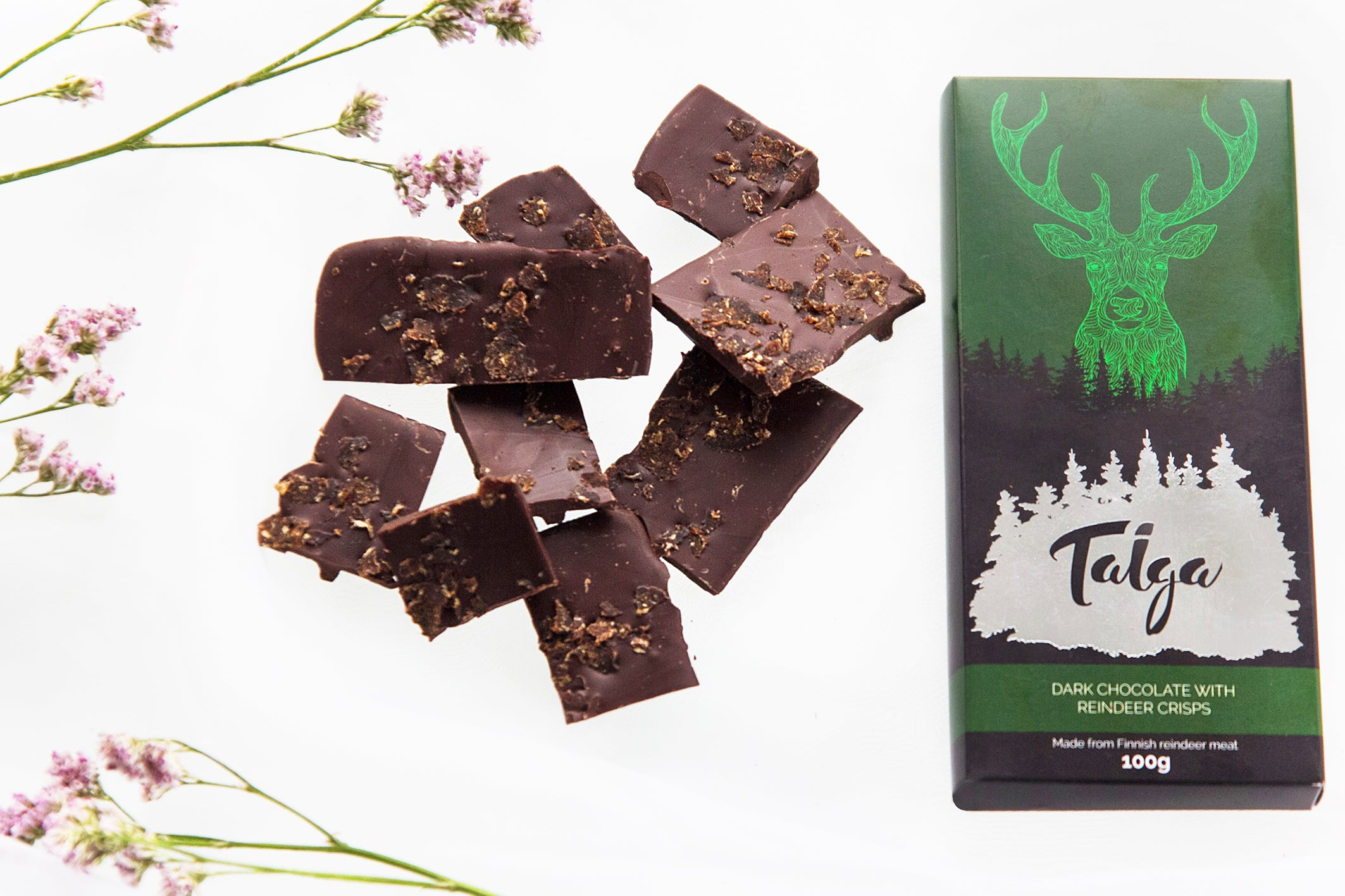 A picture of Taiga Chocolate - Reindeer Dark Chocolate