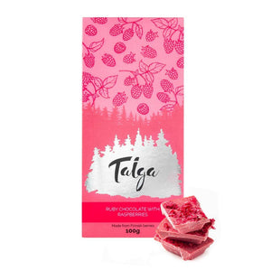Load image into Gallery viewer, Ruby Chocolate with Raspberries 100g Ruby Chocolate Taiga Chocolate