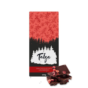 Taiga's Dark Chocolate With Lingonberries 100g Dark chocolate Taiga chocolate