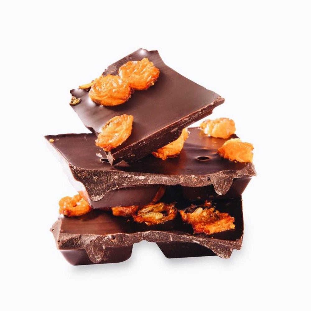Load image into Gallery viewer, Taiga's Dark Chocolate With Sea Buckthorn 100g Dark chocolate Taiga Chocolate