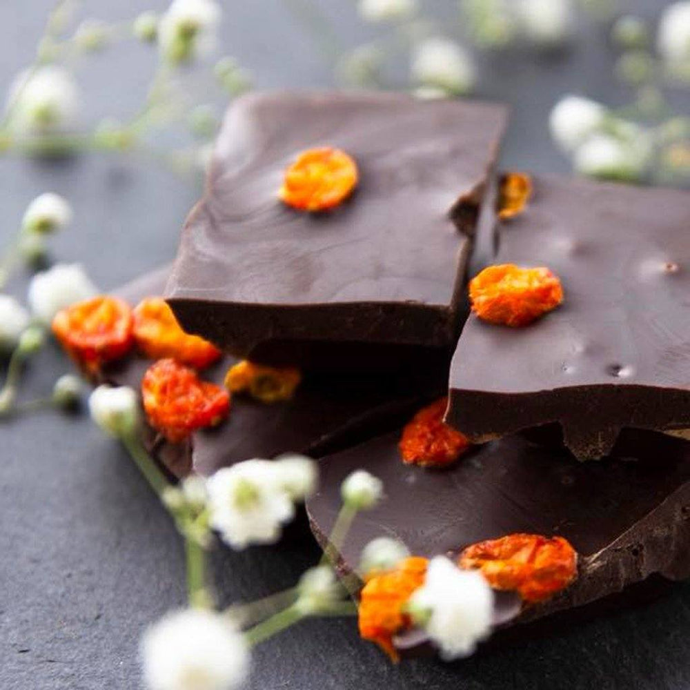 Taiga's Dark Chocolate With Sea Buckthorn 100g Dark chocolate Taiga Chocolate