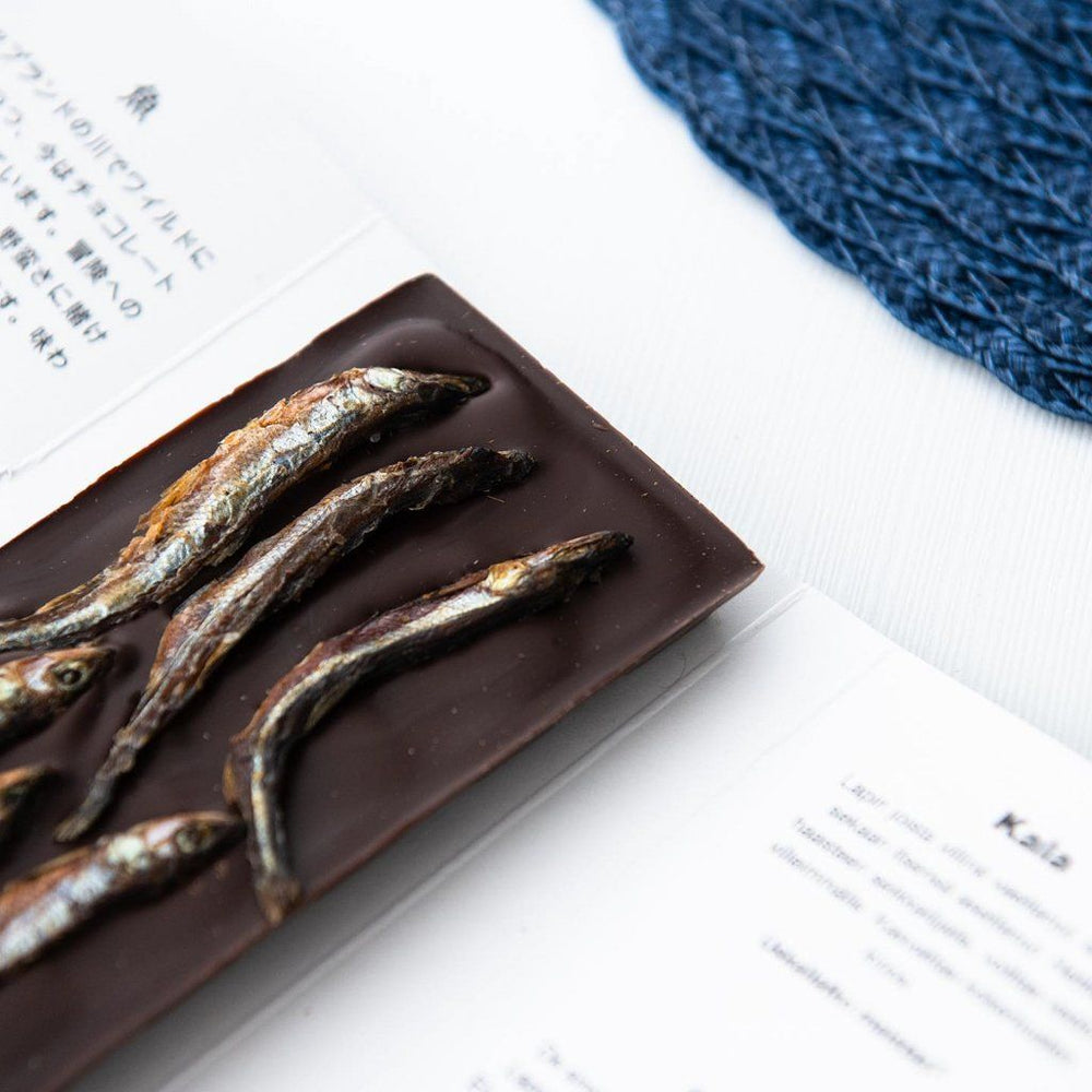 Taiga's Dark Chocolate With Smelt Fish 100g Dark chocolate Taiga chocolate