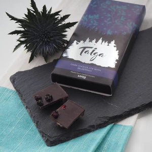 Taiga's Dark Chocolate With Wild Bilberries 100g Dark chocolate Taiga chocolate
