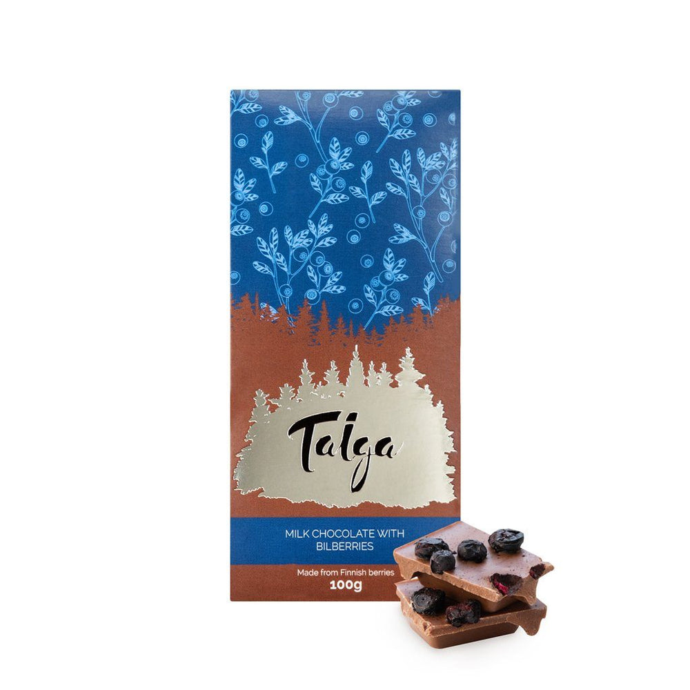Taiga's Milk Chocolate with Bilberries 100g Milk Chocolate Taiga chocolate