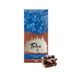 Load image into Gallery viewer, Taiga's Milk Chocolate with Bilberries 100g Milk Chocolate Taiga chocolate