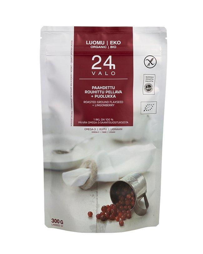 Valo24h Roasted Ground Flaxseed + Lingonberry Organic - Taiga Chocolate online shop
