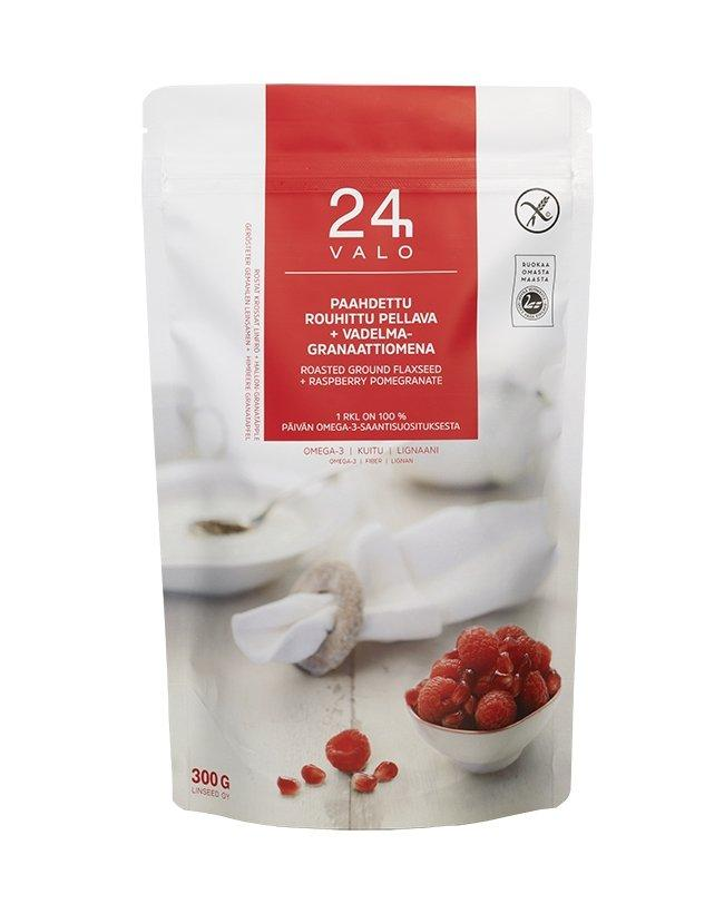 Valo24h Roasted Ground Flaxseed + Raspberry-Pomegranate - Taiga Chocolate online shop