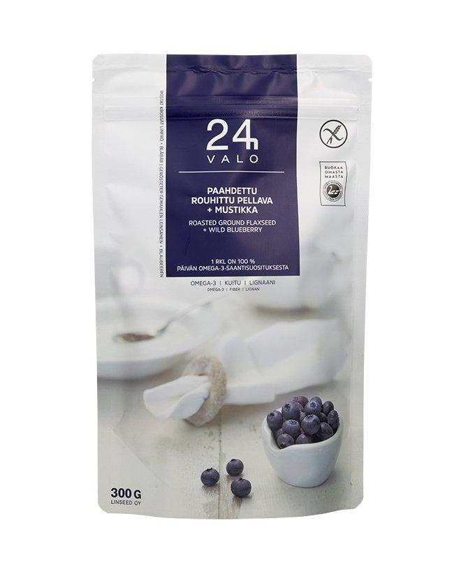 Valo24h Roasted Ground Flaxseed + Wild Blueberry - Taiga Chocolate online shop