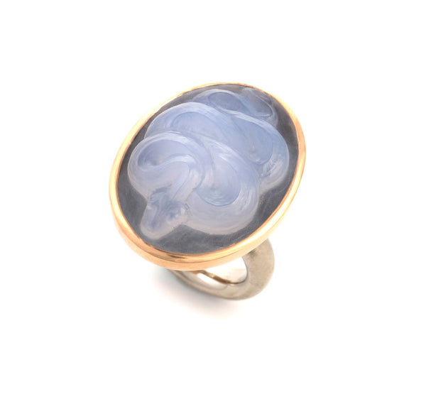 Serpent Cameo ring