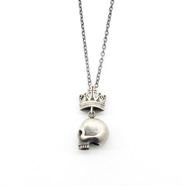 Skull and crown necklace