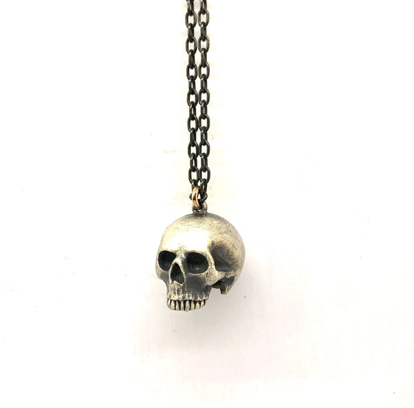 Large half skull necklace