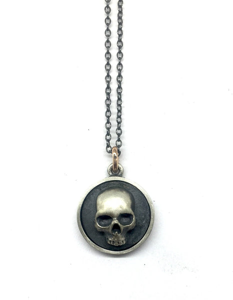 Disc Skull necklace # 4