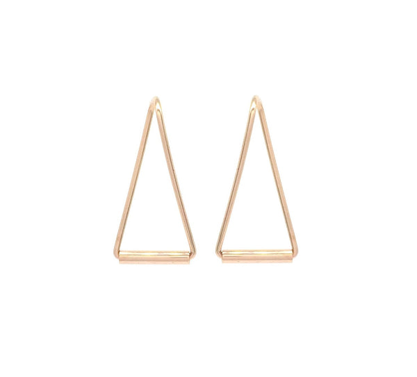 Triangle Beam Earrings