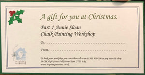 Gift Vouchers FROM £65 - Annie Sloan Chalk Paint Techniques