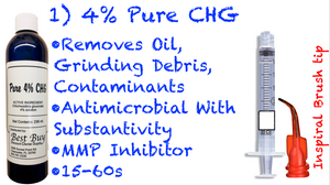 1/2 Case: 6 Pure 4% CHG Bottles (12-236ml/8oz) Save $50 Dollars!! 50 3cc Syringes Included!
