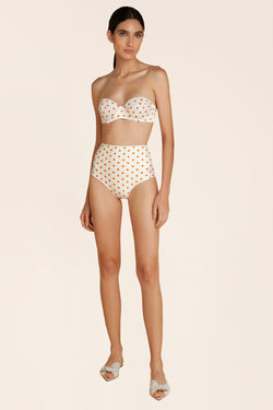 Hot Pants TQC Pois Tangerina