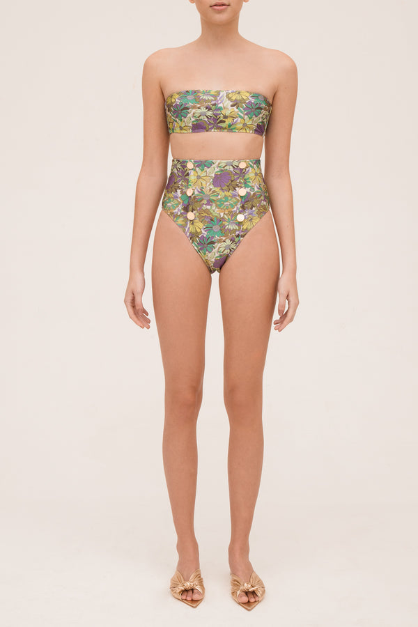 Hot Pants TQC Botões Flower Bloom