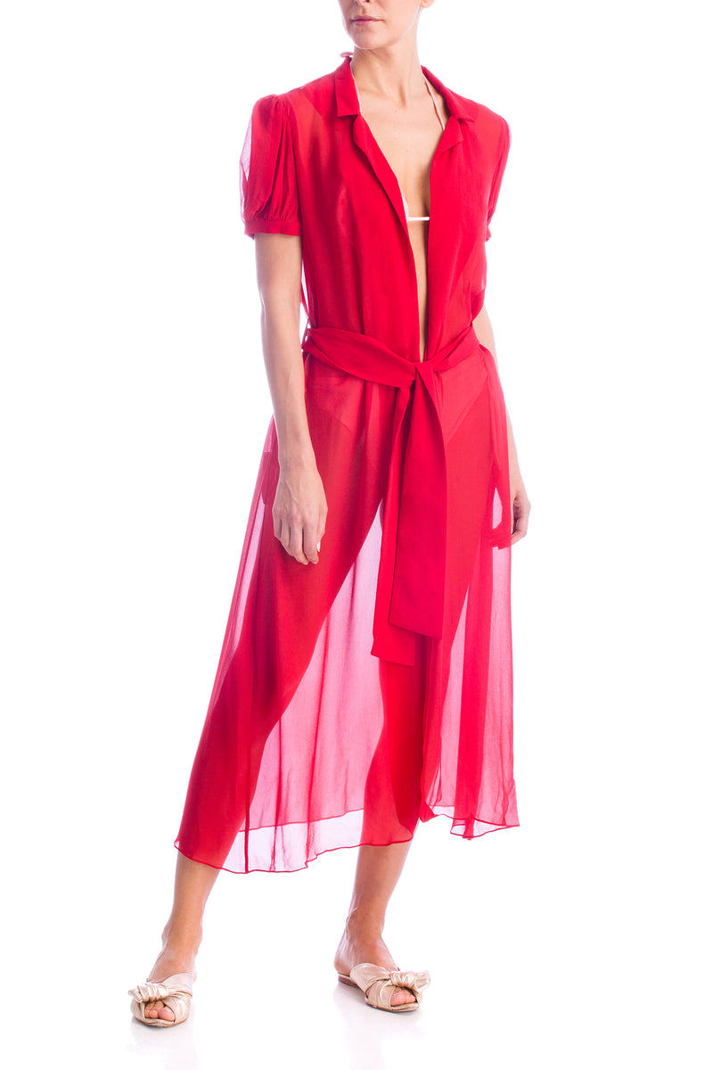 Robe Midi de Amarrar Strawberry