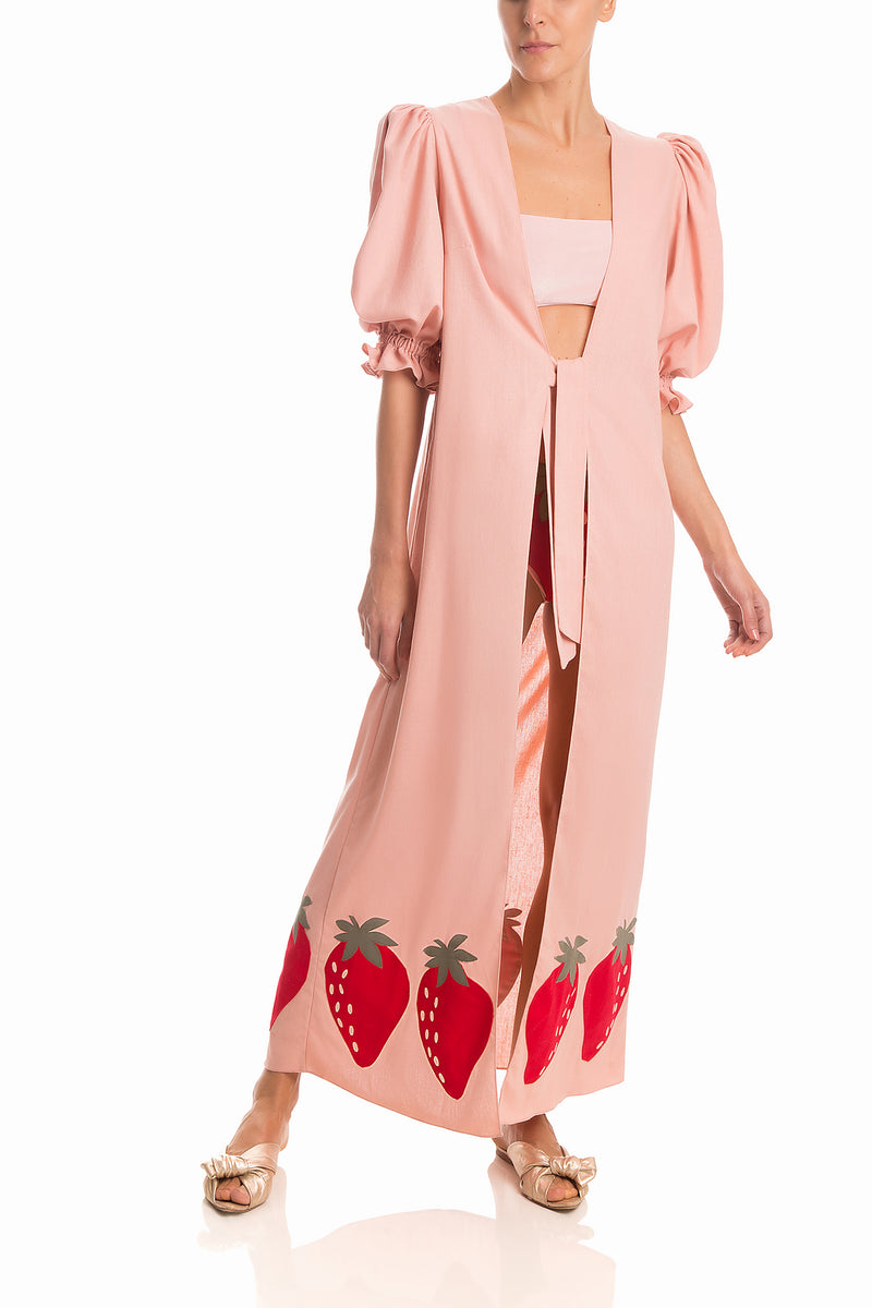 Robe Longo Morango Strawberry