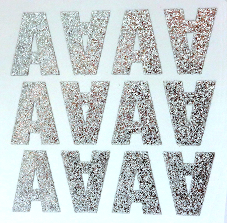 Silver Glitter Letters/Numbers