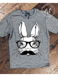 Mustache Bunny Tee - Youth
