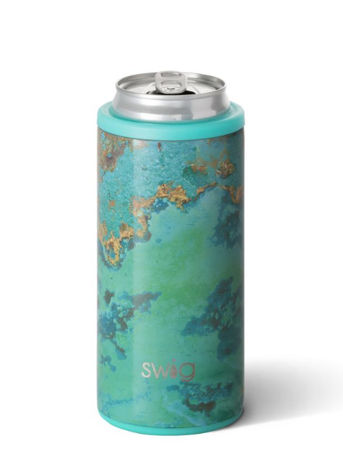 Swig-Copper Patina-Skinny Can Cooler