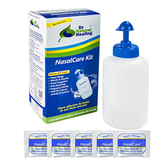 NasalCare 8oz (240 Ml) Irrigator & 50 Ct Kit