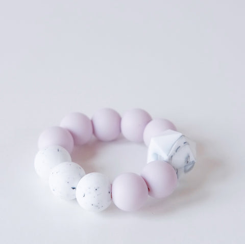 Lavender beehive Silicone and wooden teething toy
