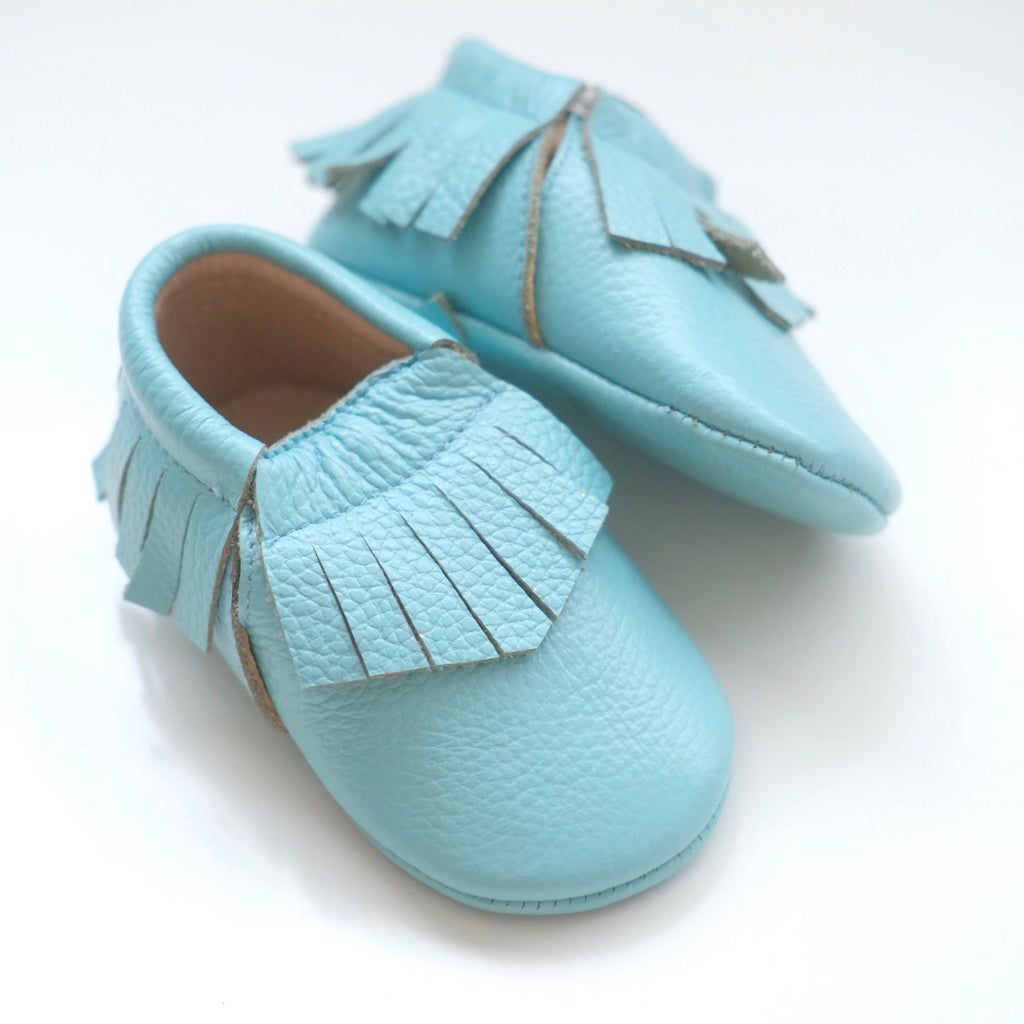 Mint Fringed Moccasins