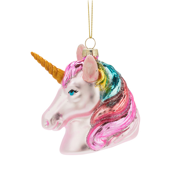Pink Unicorn Ornament